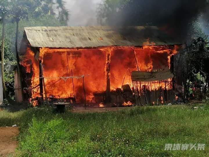 小心大火 老婆婆被大火烧伤,还损失了全部财产